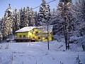 Chata Franmark v zime