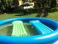 Ubytovanie Golden Sun, Podhájska, Radava - záhrada, bazén, lehátka