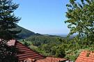 Výhľad z chaty leto