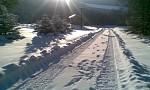 Príjazdová cesta v zime