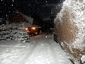 Liptovská drevenica v zime