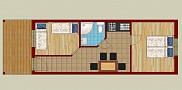 Každý apartmán má rozlohu 35m2. 2 samostatné izby